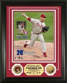 "Roy Halladay ""Perfect Game"" 24Kt Gold Coin Photo Mint   Sports Related Collectible Photomints"