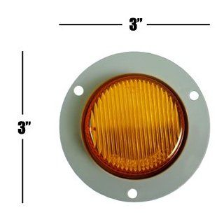 "2"" Amber Flange Mount Marker Trailer Truck Light Automotive"