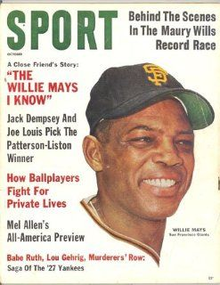 Sport Magazine October 1962 Willie Mays San Francisco Giants  Sports Related Collectibles  Sports & Outdoors