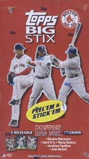 2008 Topps Big Stix [RED SOX Version] Sticker Card Box  Sports Related Trading Cards  Sports & Outdoors