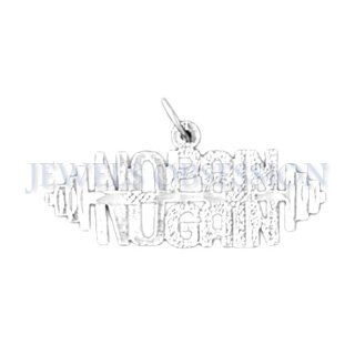 Rhodium Plated 925 Sterling Silver Saying Pendant Jewels Obsession Jewelry