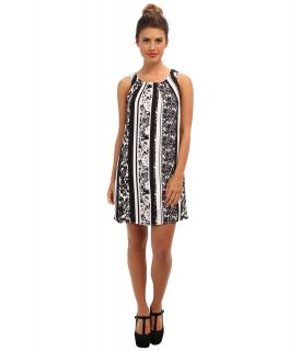 Brigitte Bailey Stripe Sleeveless Dress Womens Dress (Black)