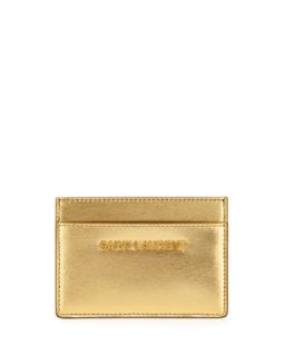 Letters Credit Card Case, Gold   Saint Laurent   Gold