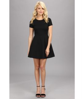 BCBGeneration Cap Sleeve Ponte Dress XGN63B28 Womens Dress (Black)