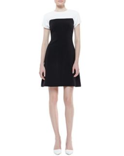 Womens tala sleeveless colorblock dress, cream/black   kate spade new york