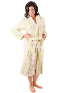 Del Rossa Women's Water Absorbant 14 oz Fleece Shawl Collar Bathrobe Robe