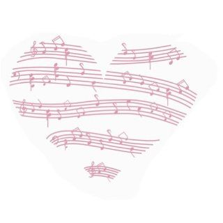 Music Heart Decals Wall Saying Vinyl Lettering Home Decor Decal Stickers Love Heart Music Notes Large Wall Decal Sticker Home Decoration Decor   Wallpaper