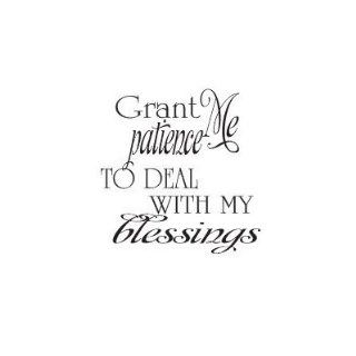 Grant Me Patience To Deal with my Blessings wall saying vinyl decal   Wall Decor Stickers