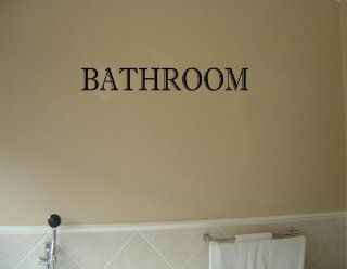 BATHROOM Vinyl wall lettering stickers quotes and sayings home art decor decal