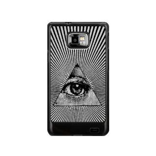 all seeing eye Hard Plastic Back Cover Case for Samsung Galaxy S2 I9100 General Version, NOT SUITABLE FOR T MOBILE OR SPRINT S2 Cell Phones & Accessories