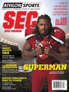 Athlon Sports 2013 College Football Southeastern (SEC) Preview Magazine  South Carolina Gamecocks Cover Sports & Outdoors