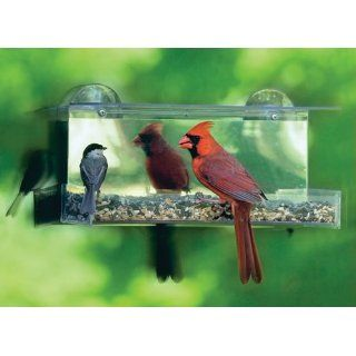 Duncraft 74205 Cardinal One Way Mirror Window Bird Feeder  Wild Bird Feeders  Patio, Lawn & Garden
