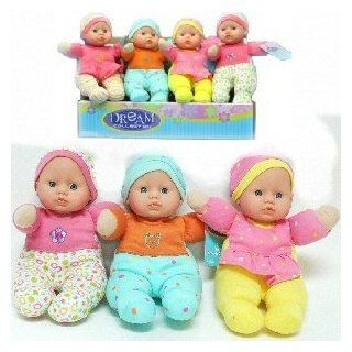 "DREAM COLLECTION GIRLS SOFT BABY DOLL TOY DOLL SIZE 9""  ASSORTED COLORS SENT AT RANDOM (ONE DOLL PER PURCHASE) PHOTO IS FOR SHOW ONLY Toys & Games"