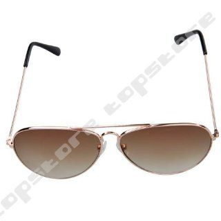 UB Classic Aviator Sunglasses Gold Frame with Brown Reflective Lens Clothing