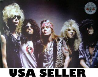 Guns N' Roses Later Lineup Horiz Poster Print 28 X 19.5 Inches Axl Rose (poster sent from USA in PVC pipe)