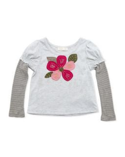 Patchwork Floral Long Sleeve Top, 2T 4T