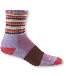 Womens Darn Tough Cushion Socks, Micro Crew Stripe