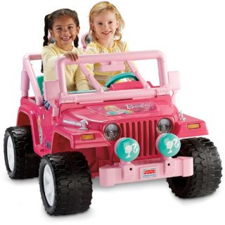 Fisher Price Power Wheels Barbie Jeep Battery Powered Riding Toy