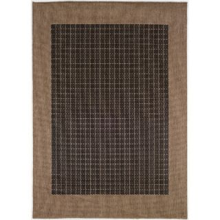 Couristan Recife Checkered Field Black Cocoa Indoor/Outdoor Area Rug