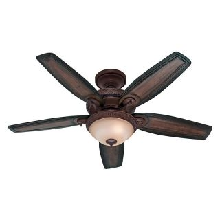 Hunter 54014 Claymore 52 in. Indoor Ceiling Fan with Light   Brushed Cocoa   Indoor Ceiling Fans