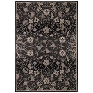 Capel Williamsburg Elsinore Garden Maze Ebony 5 ft. 3 in. x 7 ft. 6 in. Area Rug 4699RS05030706350