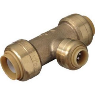 SharkBite 1/2 in. x 1/2 in. x 1/4 in. (3/8 in O.D.) Brass Push to Connect Reducer Tee U359LFA