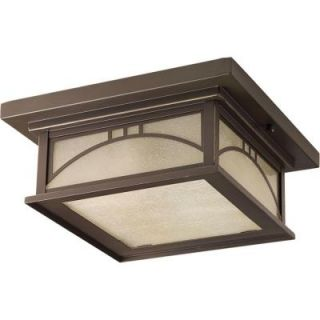 Progress Lighting Residence Collection 2 Light Antique Bronze Outdoor Flush Mount P6055 20