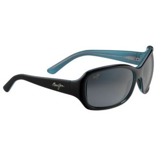 Maui Jim Pearl City Sunglasses   Black and Blue Frame/Neutral Grey Lens 747217
