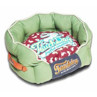Touchdog Large Olive Green and Champaign Red Bed PB62RDGNLG