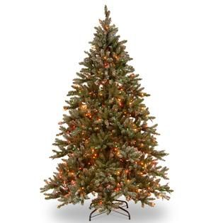 National Tree Company 9 ft. Snowy Concolor Fir Tree with Multicolor