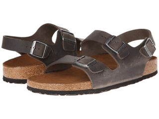 Birkenstock Milano Leather Soft Footbed Iron
