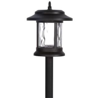 Hampton Bay Solar LED Black Lantern Pathway Light (6 Pack) NXT 1933