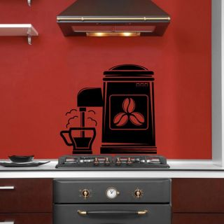 Cappuccino Machine Steaming Hot Coffee Cup Vinyl Wall Decal   15999633