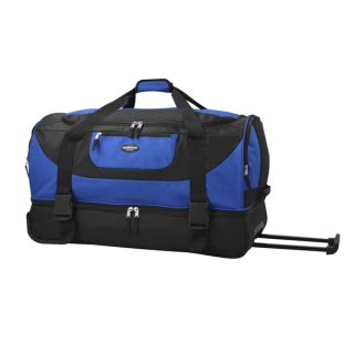 Travelers Club Adventure 30 inch 2 Section Drop Bottom Rolling Duffel