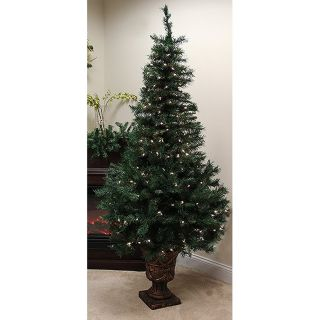 Christmas Central 5 ft Pre Lit Royal Fir Artificial Christmas Tree with 150 Count White Incandescent Lights