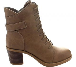 Womens Wild Diva Essence 50 Ankle Boot   Taupe Faux Leather