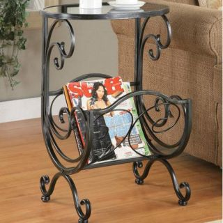 Coaster Gun Metal Accent Table In Silver Finish 700401