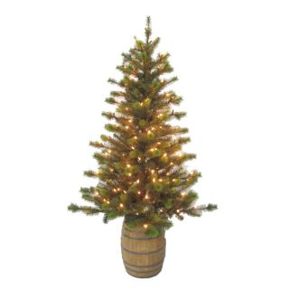 Holiday Living 5 ft Indoor/Outdoor Pine Pre lit Decorative Artificial Tree with 140 Clear Incandescent Lights