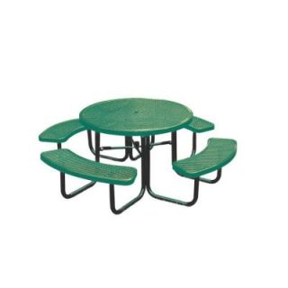 Ultra Play 46 in. Green Diamond Commercial Park Round Portable Table PBK358 RDVG