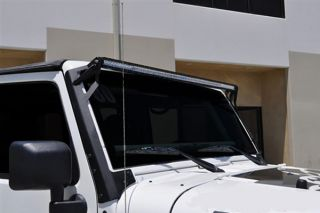 2007 2016 Jeep Wrangler Light Mounts & Wiring   Rigid Industries 40131   Rigid Industries Windshield Lightbar Mount Kits