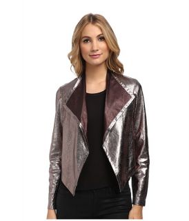 Nicole Miller Non Stretch Leather Jacket Gold Multi