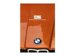 1980 BMW 528 I Sales Brochure Literature Piece Advertisement Options