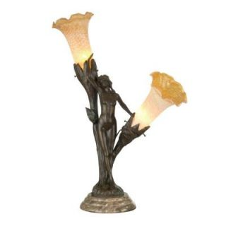 Dale Tiffany Floral Lady Art Glass Accent Lamp DISCONTINUED  0049