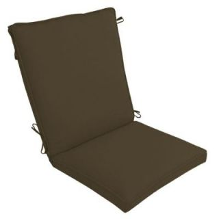 Hampton Bay Java Texture Outdoor Dining Chair Cushion DISCONTINUED FC01271B 9D1