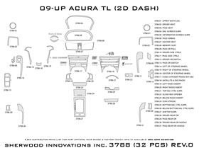 2011 Acura TL Wood Dash Kits   Sherwood Innovations 3788 N50   Sherwood Innovations Dash Kits
