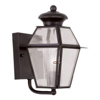 Filament Design Providence Wall Mount 1 Light Outdoor Bronze Incandescent Lantern CLI MEN2180 07
