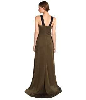 badgley mischka ombre chiffon bead gown black gold