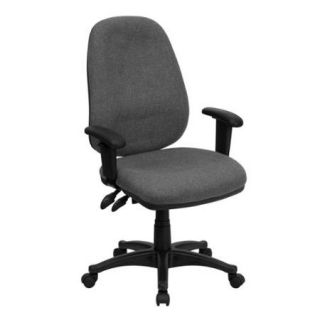 High Back Ergonomic Computer Chair with Height Adjustable Arms ColorGray