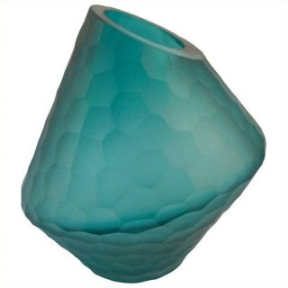 Moe's Sky Short Vase in Blue   WD 1001 26