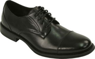 Mens Deer Stags Mode Waterproof Cap Toe Oxford   Black